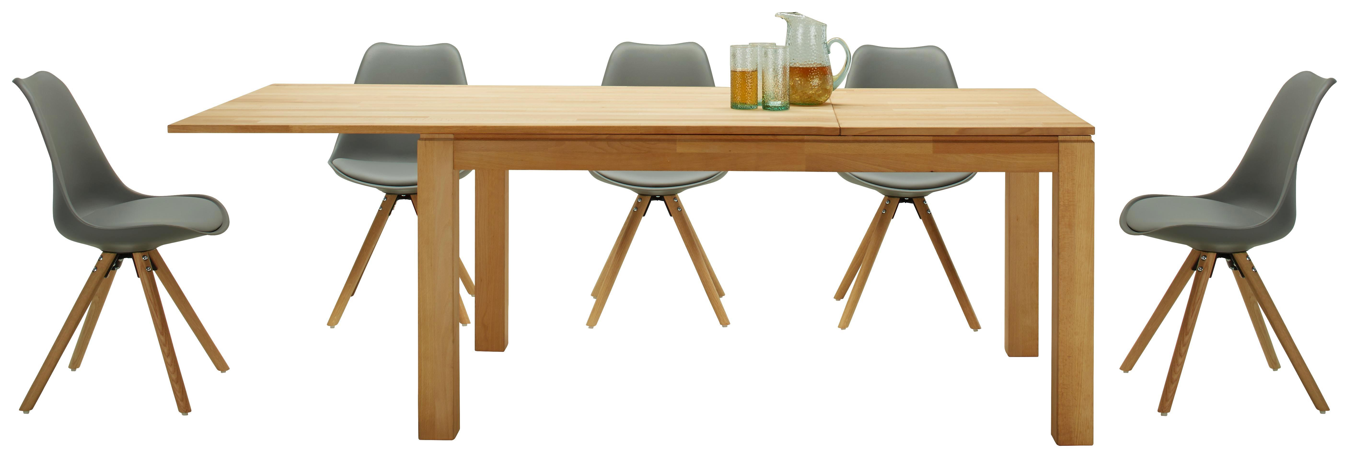 Stuhl in Grau/eiche - Eichefarben/Grau, MODERN, Holz/Kunststoff (47/81/52cm) - MÖMAX modern living