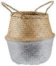 Cvetlični Lonček Dalilah - naravna/siva, umetna masa/ostali naravni materiali (38/40cm) - Modern Living