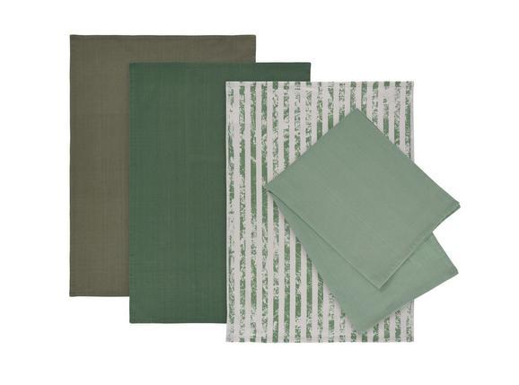 Geschirrtuch-Set Lisa aus Baumwolle, 4-teilig - Hellgrün, MODERN, Textil (50/70cm) - Mömax modern living