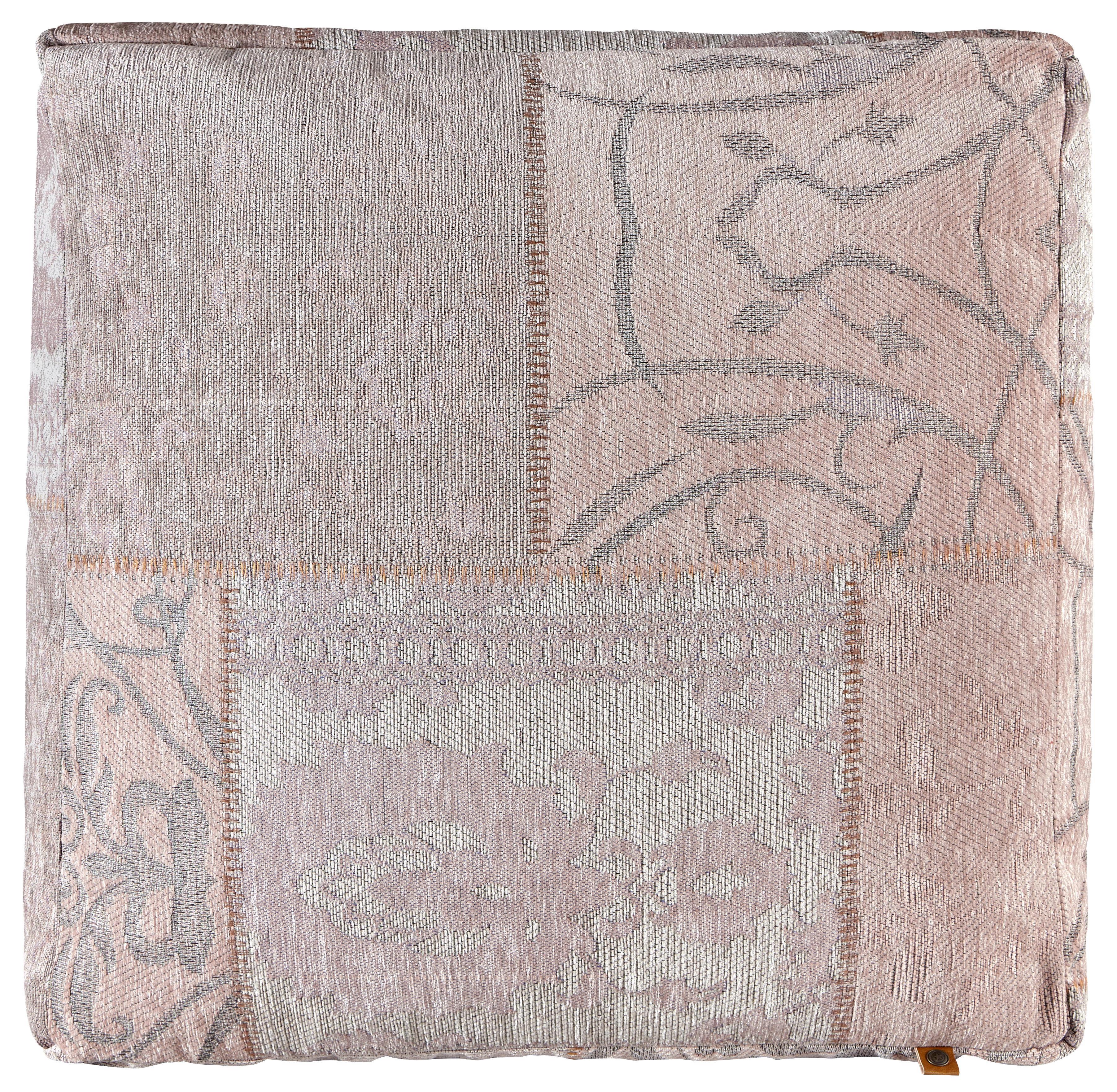 Pouf Samra - Rosa, MODERN, Textil (60/60/30cm)