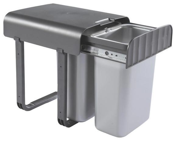 Einbauabfallsammler 780202 Dunkelgrau - Dunkelgrau/Silberfarben, Kunststoff (28,7/36,2/33,3cm)