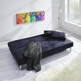 Sofa mit Schlaffunktion in Grau 'Esther' - Chromfarben/Grau, MODERN, Holz/Textil (200/83/80cm) - Bessagi Home