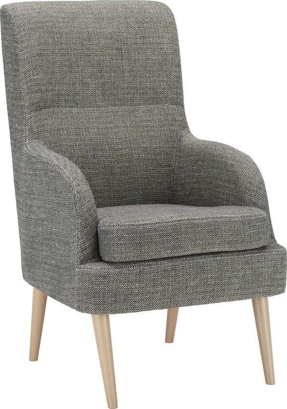 Sessel Grau/Weiß - Buchefarben/Weiß, Holzwerkstoff/Textil (63/105/83cm) - Mömax modern living