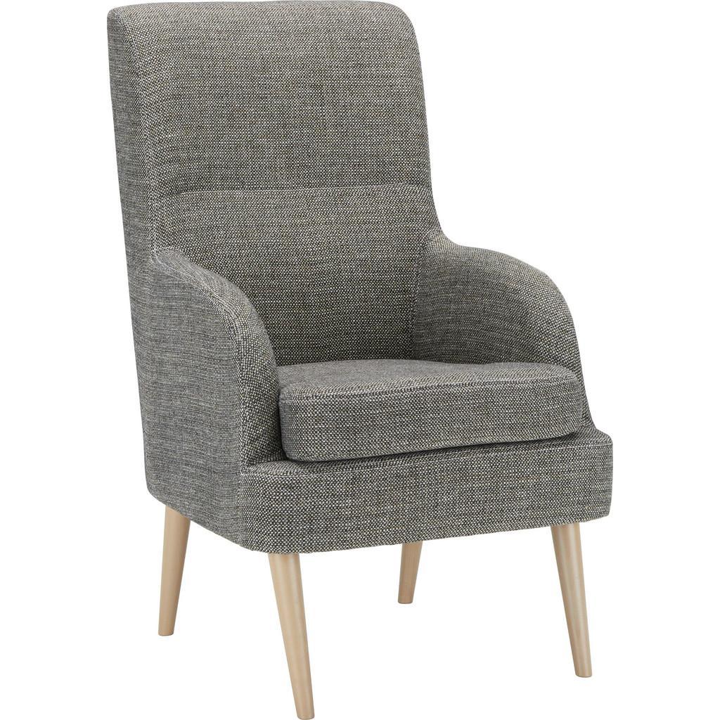 Sessel in Grau/Weiß