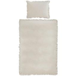 Bettwäsche Rüschen Sand 140x200cm - Sandfarben, ROMANTIK / LANDHAUS, Textil (140/200cm) - Zandiara