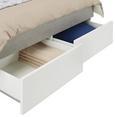 Stauraumbett Grau/Weiß 180x200cm - Weiß/Grau, KONVENTIONELL, Holzwerkstoff (187/100/220cm) - Modern Living