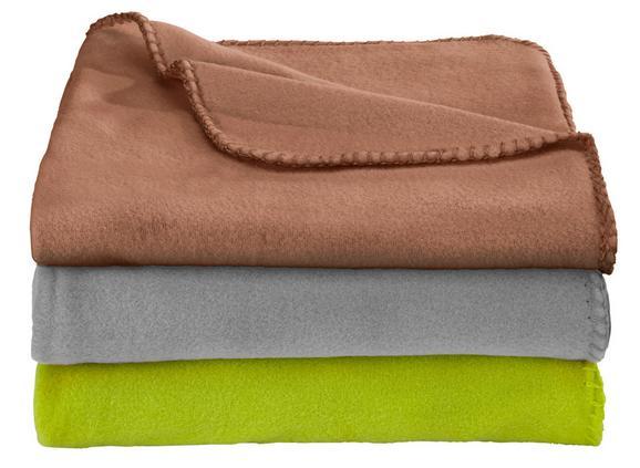 Pătură Fleece Trixi -based- - Maro/Gri, Material textil (130/160cm) - BASED