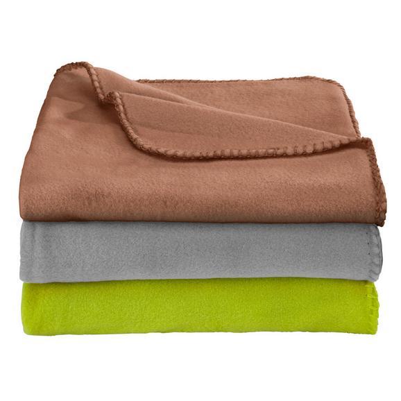 Pătură Fleece Trixi - gri, textil (130/160cm) - Based
