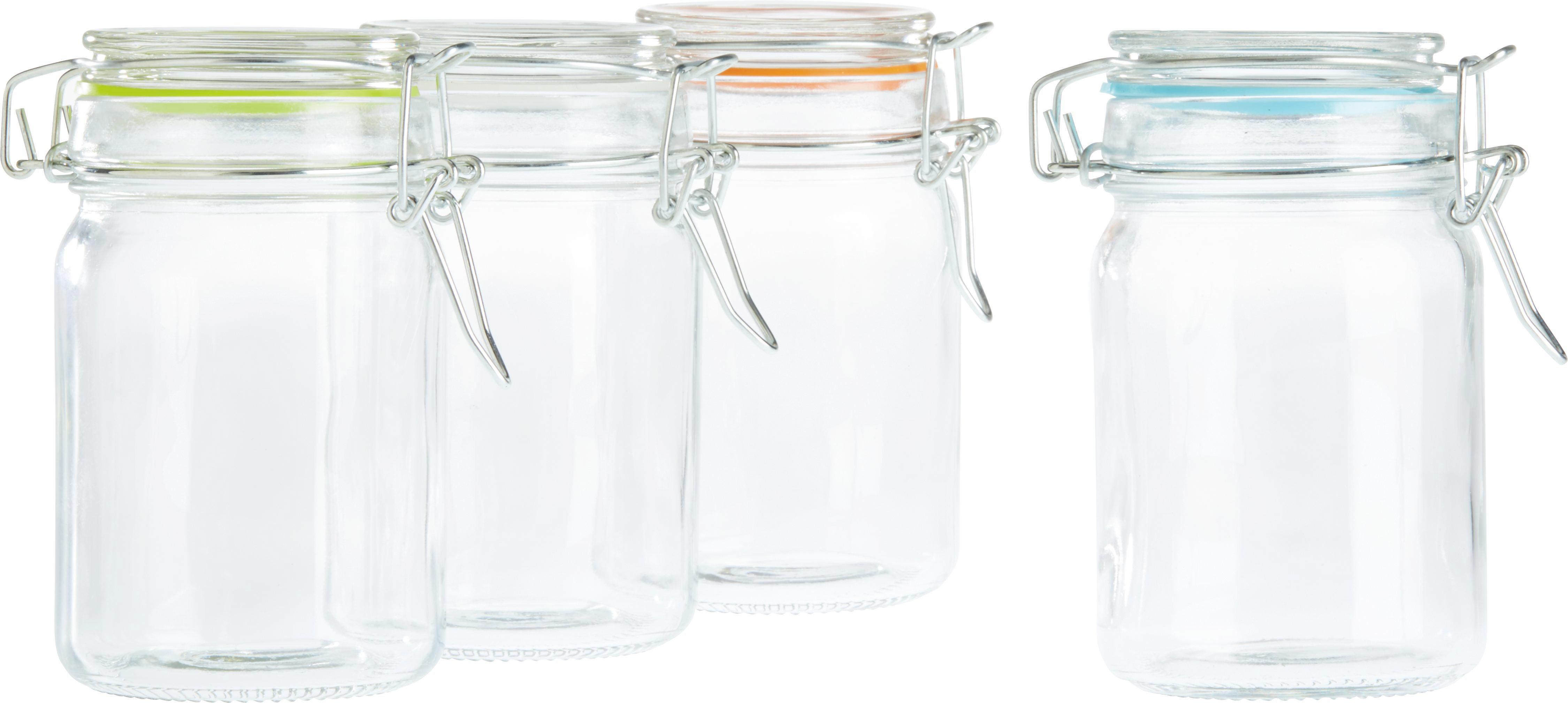 Üveg Tárolóedény Mimi - türkiz/tiszta, műanyag/üveg (6,8/11,7cm) - MÖMAX modern living