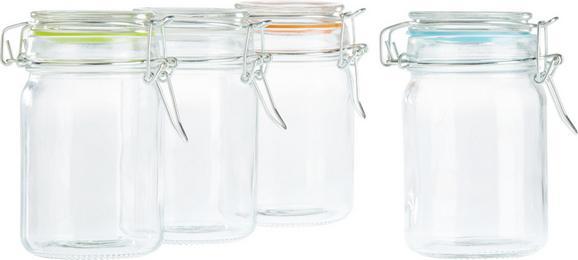 Vorratsglas Mimi aus Glas, ca. 280ml - Türkis/Klar, Glas/Kunststoff (6,8/11,7cm) - Mömax modern living