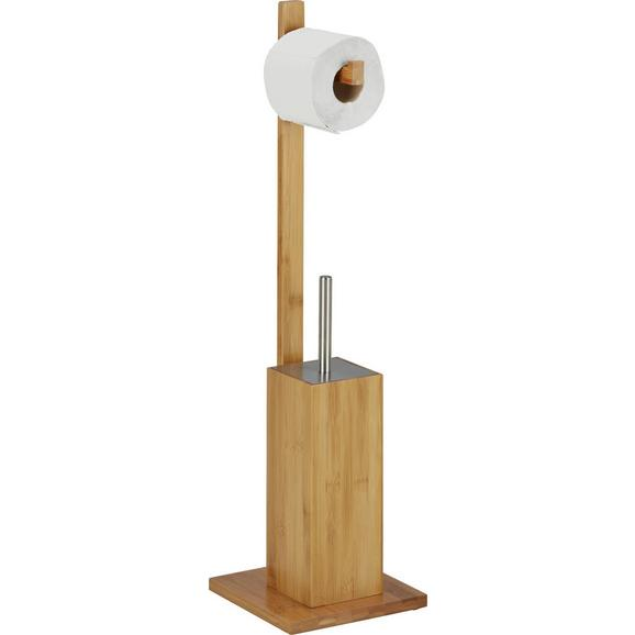 WC-Bürstenkombination Naturfarben/Edelstahlfarben - Edelstahlfarben/Naturfarben, MODERN, Holz/Kunststoff (19/70,5/19cm) - Mömax modern living