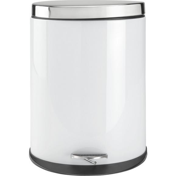 Treteimer Carmen Weiß ca. 20 Liter - Edelstahlfarben/Schwarz, MODERN, Kunststoff/Metall (34/43,7/25cm) - Mömax modern living