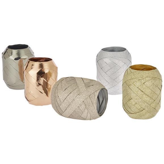 Ajándékcsomagoló Szalag Rene - Arany/Antracit, konvencionális, Papír/Műanyag (7/8,5cm)