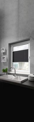 Plissee Free in Grau, ca. 80x130cm - Anthrazit, Textil (80/130cm) - Mömax modern living