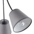 Deckenleuchte Elaine max. 60 Watt - Grau, LIFESTYLE, Textil (68/66cm) - Premium Living