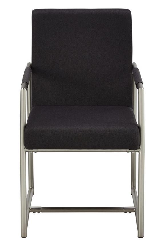 Stol Porto - temno siva/nerjaveče jeklo, Moderno (51/88/63cm) - Mömax modern living