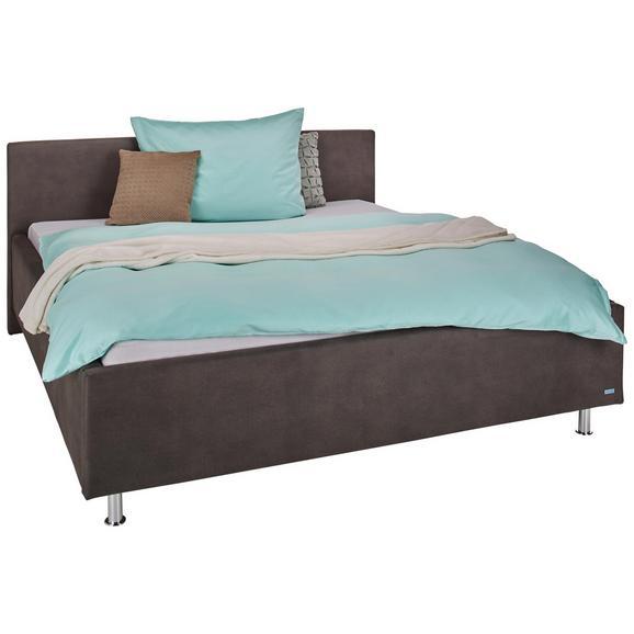 Oblazinjena Postelja 160x200 Cm Glenn - krom/antracit, Konvencionalno, tekstil (160/200cm) - Premium Living