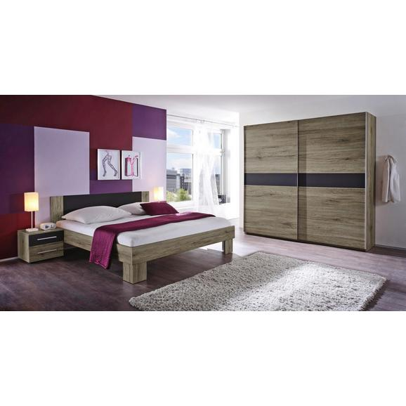 Spalnica Marvic - črna/hrast, leseni material - Mömax modern living