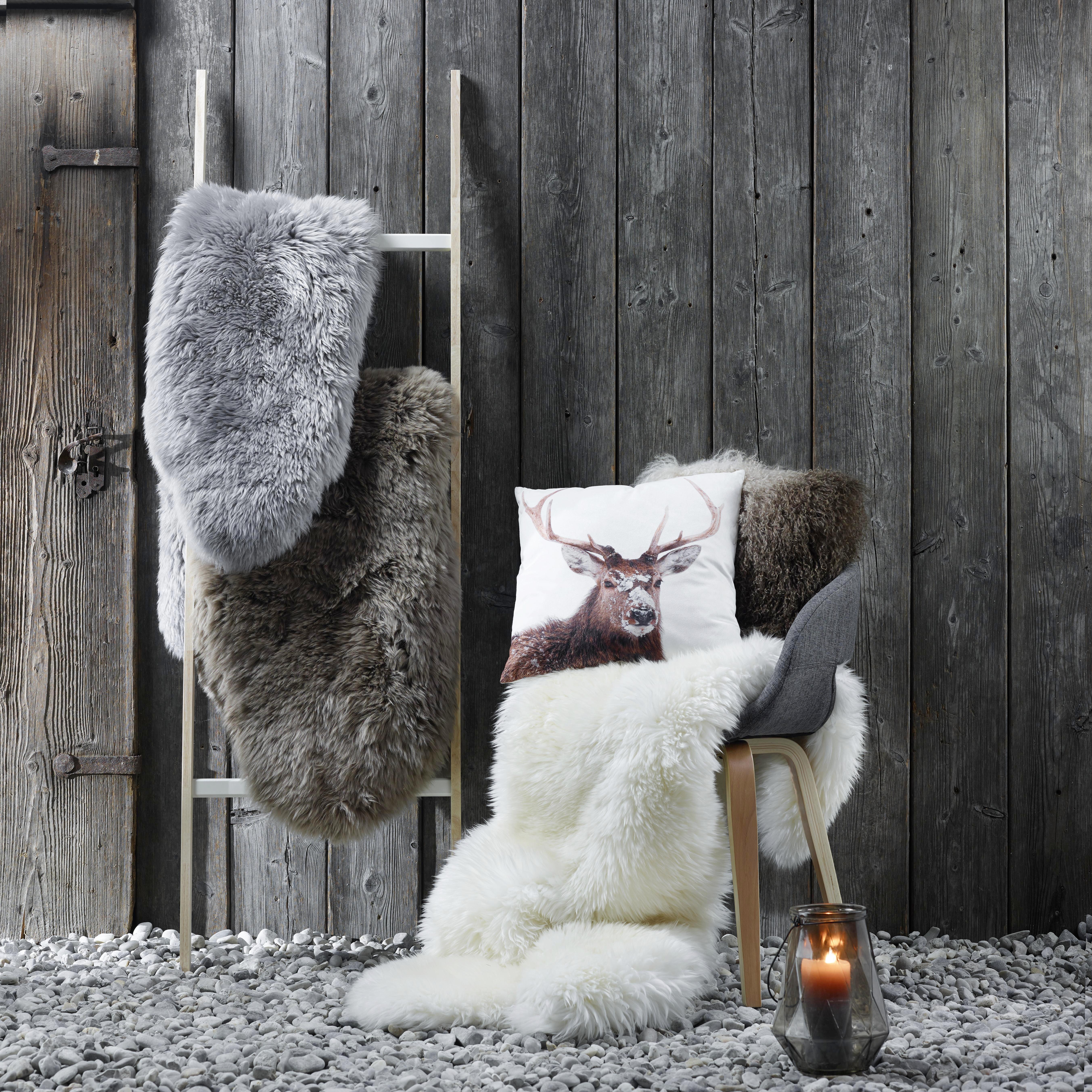 Fellkissen Shaggy 40x40cm - Braun, LIFESTYLE, Textil (40/40cm) - MÖMAX modern living