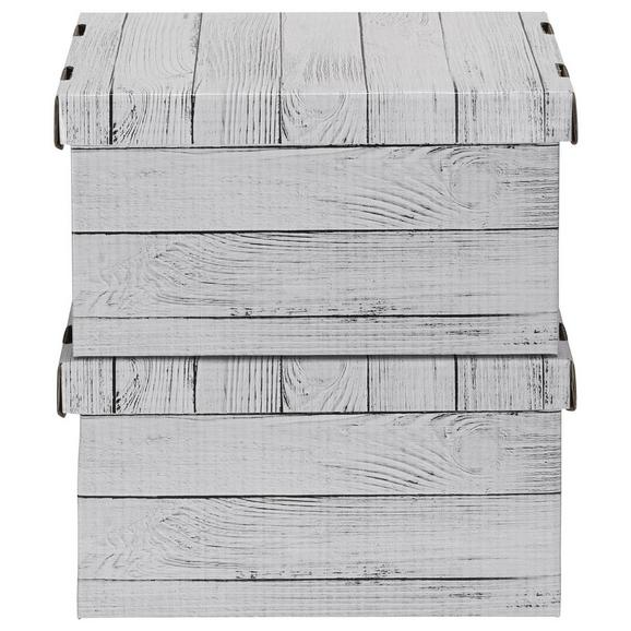 Box mit Deckel Jimmy Naturfarben - Naturfarben, Karton (34/18/25cm) - Mömax modern living