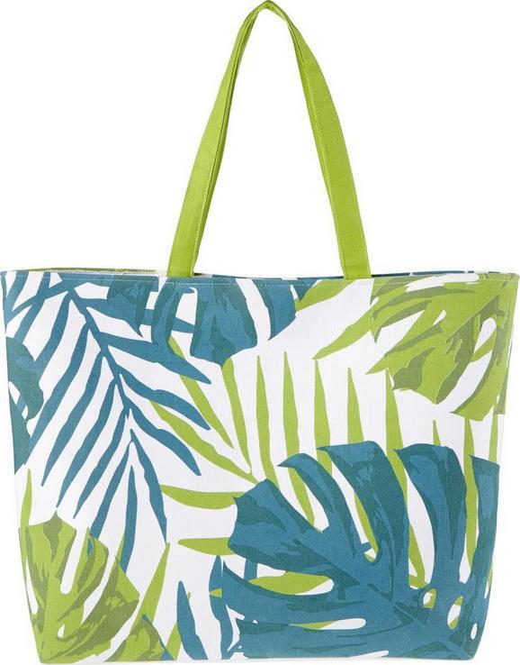 Torba Za Na Plažo Green Leaf - modra/bela, tekstil (44/15cm) - Mömax modern living