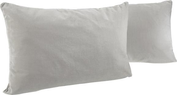 Samt Zierkissen Lara 40x60cm - Hellgrau, KONVENTIONELL, Textil (40/60cm) - MÖMAX modern living