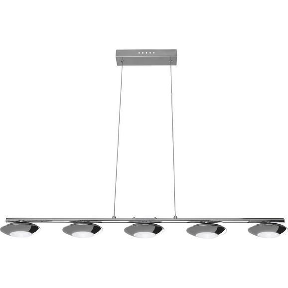 Pendelleuchte Leonita mit LED 5-flammig - Chromfarben, MODERN, Metall (90/11,5/120cm) - Bessagi Home