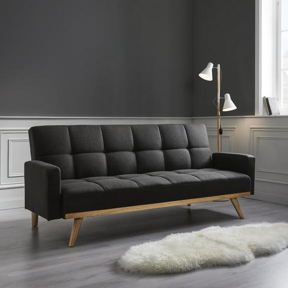 Sofa Johnny mit Schlaffunktion - Dunkelgrau, MODERN, Holz/Textil (199/85/91-109cm) - Mömax modern living