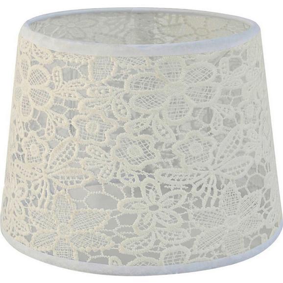 Abjaur Pentru Lămpi Rossi - alb, Romantik / Landhaus, textil (16,5-20/15,6cm) - Modern Living
