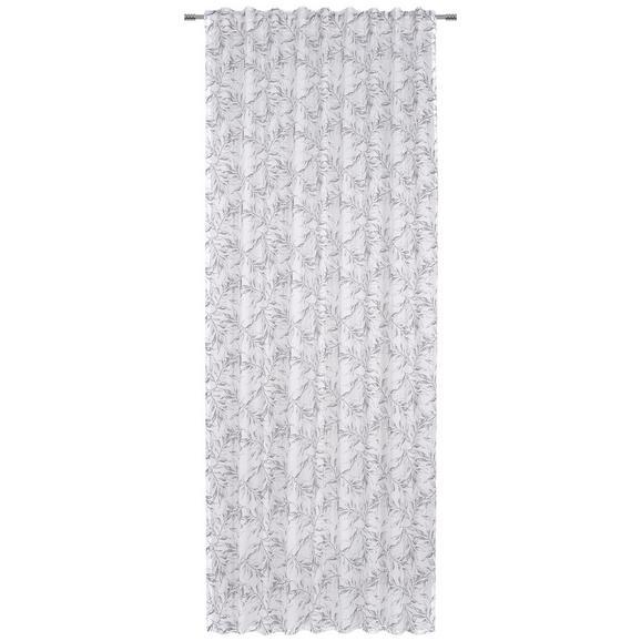 Fertigvorhang Athena in Grau/Weiß - Weiß/Grau, Textil (140/245cm) - Mömax modern living