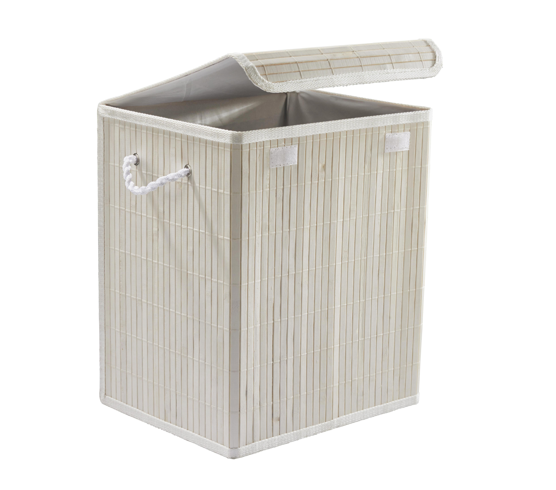 Szennyestartó Bamboo White - fehér, fa (33/23/38cm) - MÖMAX modern living
