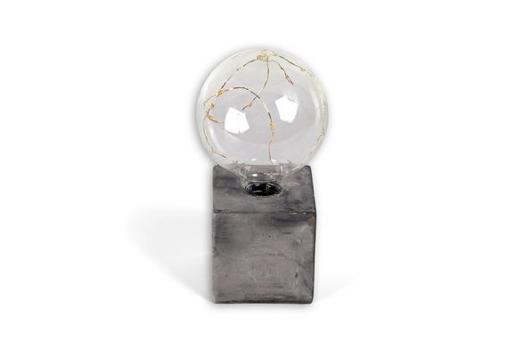 LED-Dekoleuchte Urban, max. 0,06 Watt - Grau, Glas/Kunststoff (10/10/19,5cm) - Mömax modern living