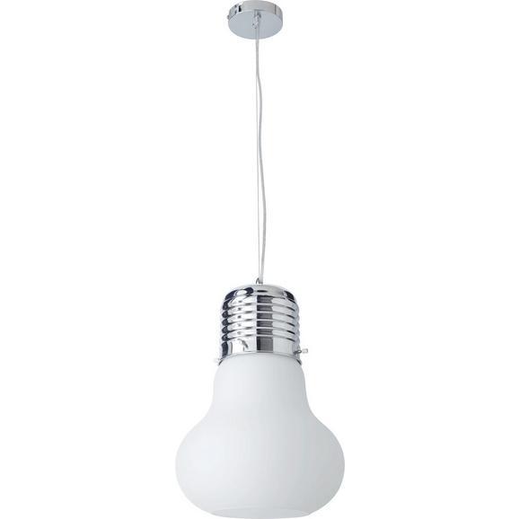 Hängeleuchte max. 60 Watt 'Alicia' - Chromfarben, MODERN, Glas/Metall (30/120cm) - Bessagi Home
