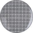 Speiseteller Shiva in verschiedenen Designs - Schwarz/Weiß, LIFESTYLE, Keramik (26/2,5cm) - Mömax modern living