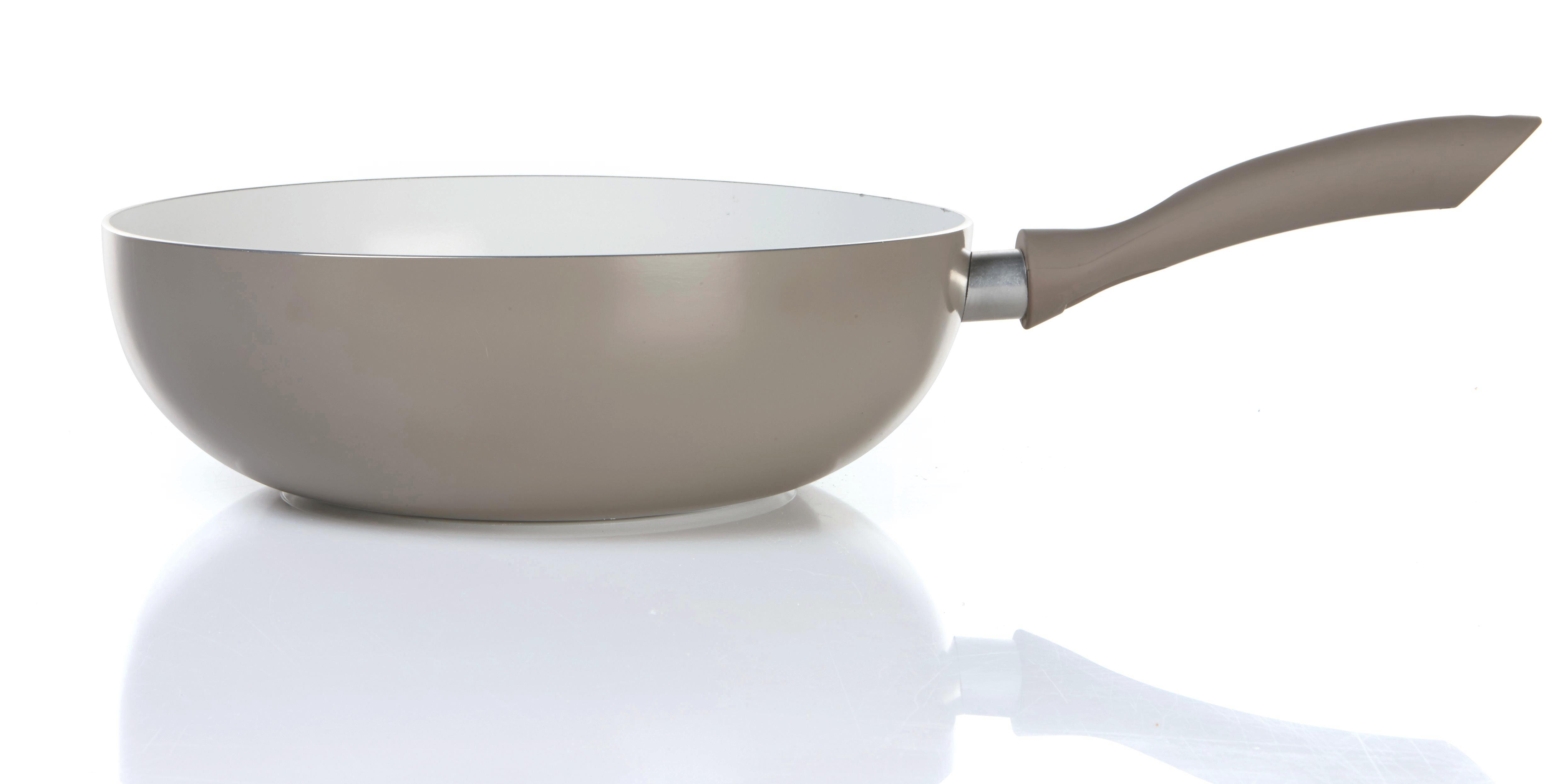 Wok Serpenyő Lexi - világosszürke/fehér, modern, műanyag/fém (28/8cm) - premium living