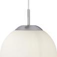 Hängeleuchte Joel max. 60 Watt - Opal, KONVENTIONELL, Glas/Metall (52/80cm)
