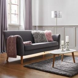 Sofa Patrick - Dunkelgrau, MODERN, Holz (200/84/84cm) - Modern Living