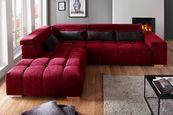 Funkcijska Sedežna Garnitura Malta - rdeča/črna, Moderno, tekstil (228/295cm) - Premium Living