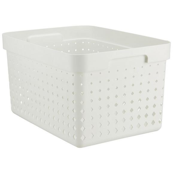 Korb Seoul aus Kunststoff in Weiß - Weiß, MODERN, Kunststoff (35,7/26,8/20,9cm)