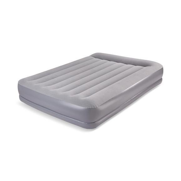 Luftbett in Grau ca. 203x152x38cm - Grau, Kunststoff/Textil (203/152/38cm) - Mömax modern living