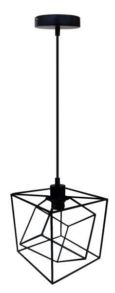 Függőlámpa Fano - fekete, modern, műanyag/fém (20/20/125cm) - MÖMAX modern living