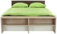 Postelja Julia - bela/hrast, Konvencionalno, leseni material/tekstil (186/54-95/226cm) - Mömax modern living