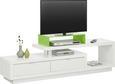 TV-Element Weiß Hochglanz - Alufarben/Weiß, MODERN, Holzwerkstoff/Kunststoff (170/45/40cm) - Mömax modern living