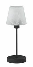 Asztali Lámpa Alabástrom Fehér - Fehér/Rozsdavörös, Lifestyle, Üveg/Fém (32cm)