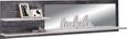 Stenski Panel Leeds - siva/bela, Moderno, kovina/umetna masa (194,8/50/21,9cm) - Modern Living