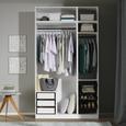 Kleiderschrankkorpus in Weiß - Weiß, MODERN, Holzwerkstoff (45,6/242,2/56,5cm) - Based
