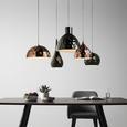 Pendelleuchte Alex 5-flammig - Silberfarben/Kupferfarben, KONVENTIONELL, Metall (110/68/120cm) - Bessagi Home