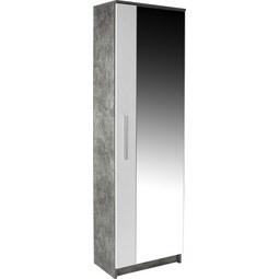 Garderobna Omara Tina - aluminij/bela, Moderno, umetna masa/steklo (60/198/32cm) - Mömax modern living
