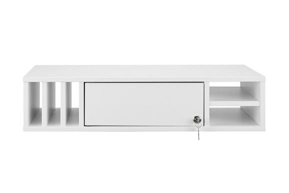 Regaleinsatz in Weiß - Weiß, MODERN, Holzwerkstoff (76/17,1/36,7cm) - Mömax modern living