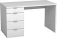 Íróasztal Livona Ii - Fehér, modern, Faalapú anyag (120/75/60cm)